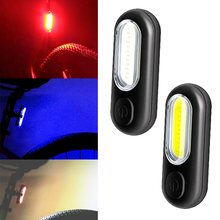Led Bike Light Rear USB Rechargeable Red White Blue Bicycle Lights Cycling Accessories Lamp Warning Tail Light For Bike Bicycles цена 2017