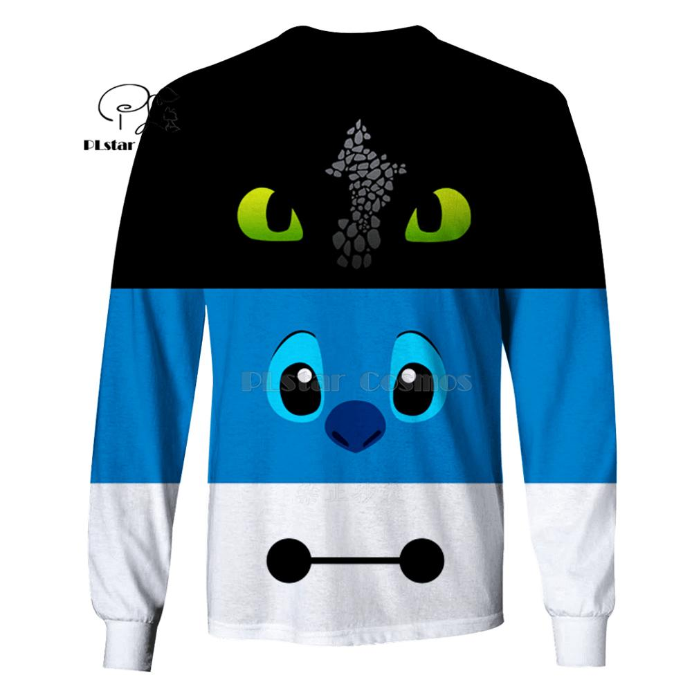PLstar Cosmos Stitch and Baymax 3d hoodies shirt Sweatshirt Winter autumn funny Harajuku Halloween party cosplay streetwear in Hoodies amp Sweatshirts from Men 39 s Clothing