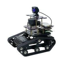 DIY Smart Roboter Tank Chassis Auto Mit Laser Radar Für Raspberry Pi 4 (2G) pädagogisches Spielzeug Geschenk Für Kind Erwachsene-Schwarz/Gelb/Blau