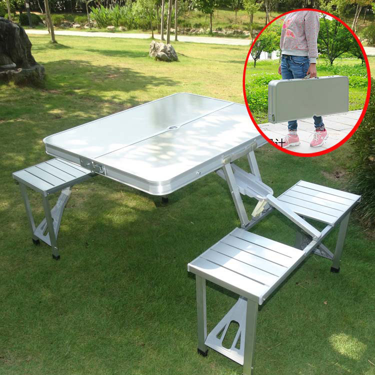 Outdoor Hot Sales Lian Ti Zhuo Aluminum Alloy Folding Table Multi-functional Portable Camping Table Set Barbecue Desk