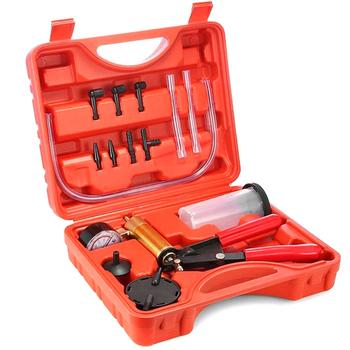Ręczny Tester pompy próżniowej zestaw do odpowietrzania hamulców przenośne narzędzia do krwawienia do samochodu NJ88 tanie i dobre opinie Vecligt 203914 Plastic