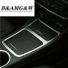 Chrome Center Panel Storage Box Cover Trim For Mercedes Benz GLA CLA A Class A180 A200 W176 W117 Car Styling Accessories