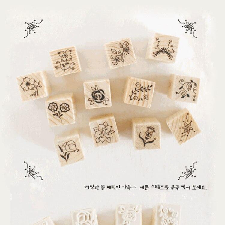 Горячая Распродажа, новинка 2021, деревянная мини-печать, Южная Корея [bbabbabbiyo], самодельная печать, штампы с цветочным уплотнением для скрапбук...