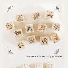 Mini sceau en bois de corée du sud, bricolage, boîte d'allumettes, timbres à fleurs pour Scrapbooking, offre spéciale, 2021