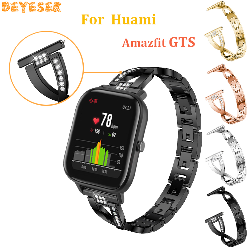 20mm Metal band bracelet For Samsung Galaxy watch active gear s2/sport watch band replacement For Huami Amazfit GTS wrist strap