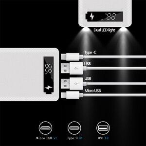 Image 4 - Çift USB 10*18650 taşınabilir güç kaynağı kılıfı cep telefonu hızlı şarj cihazı depolama DIY kabuk dijital ekran 18650 pil tutucu şarj kutusu