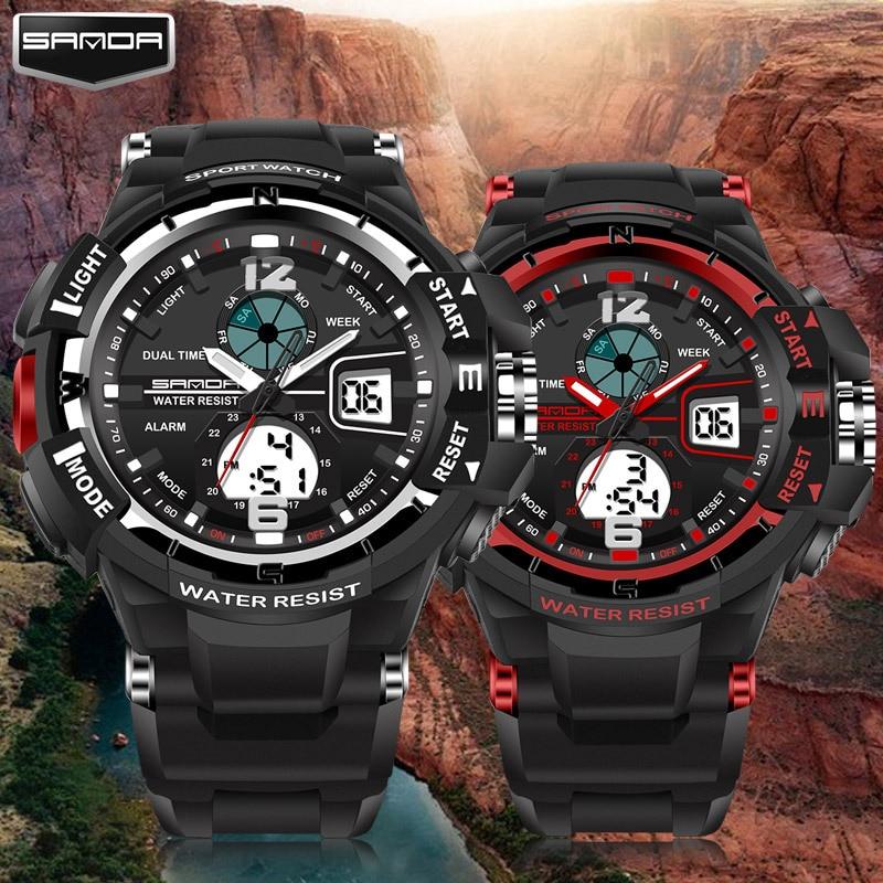 2019 Акция Новые брендовые Sanda модные часы мужские G Стиль водонепроницаемые спортивные военные часы шок Роскошные Аналоговые Цифровые
