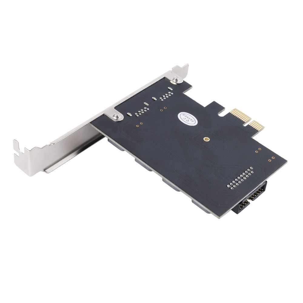 Адаптер для экспресс-карт ORICO PCI-E, 2 порта, USB 3,0, PCIE, концентратор USB 3,0, 19pin, фронтальная Расширительная карта, 5 Гбит/с, сверхвысокая скорость