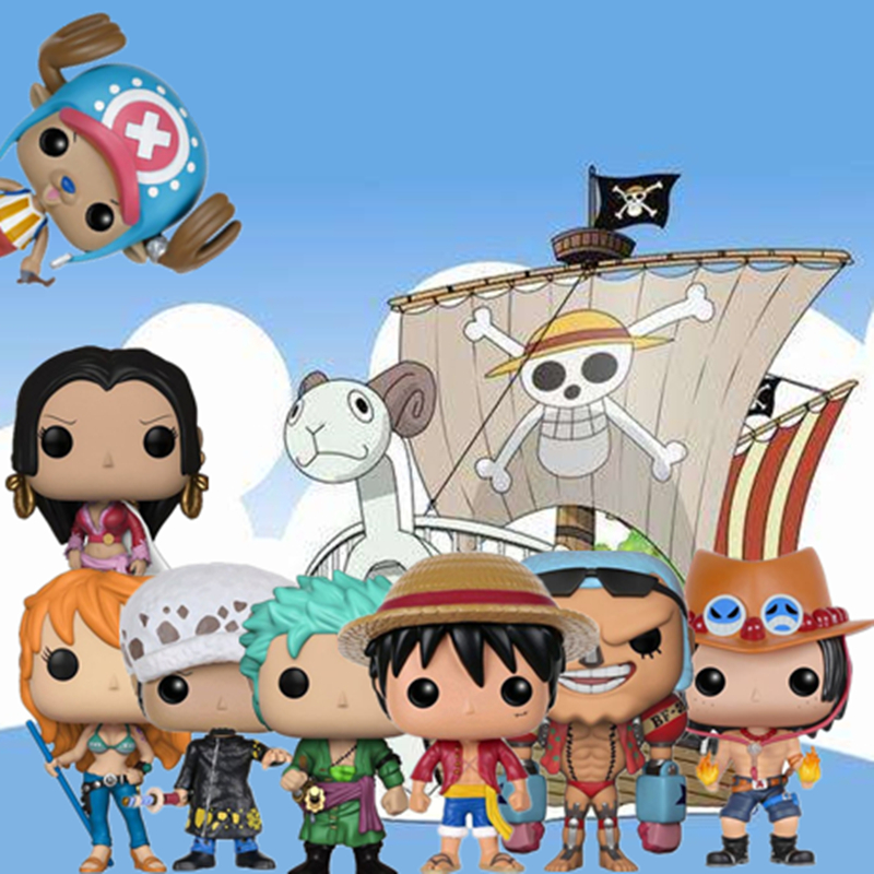 Funko Pop Japanese Anime:One Piece Character Monkey D. Luffy-ZORO-NAMI-Chopper-FRANKY-LAW Birthday Gift Action Figure Model Toys(China)