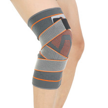 3D knitting compression bandage knee brace basketball hiking cycling knee support professional protective sports knee pads(China)