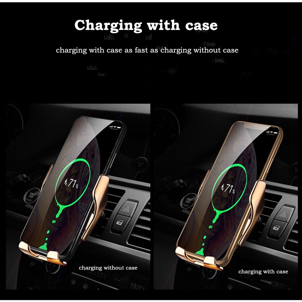 05Automatic Clamp 10W Car Wireless Charger