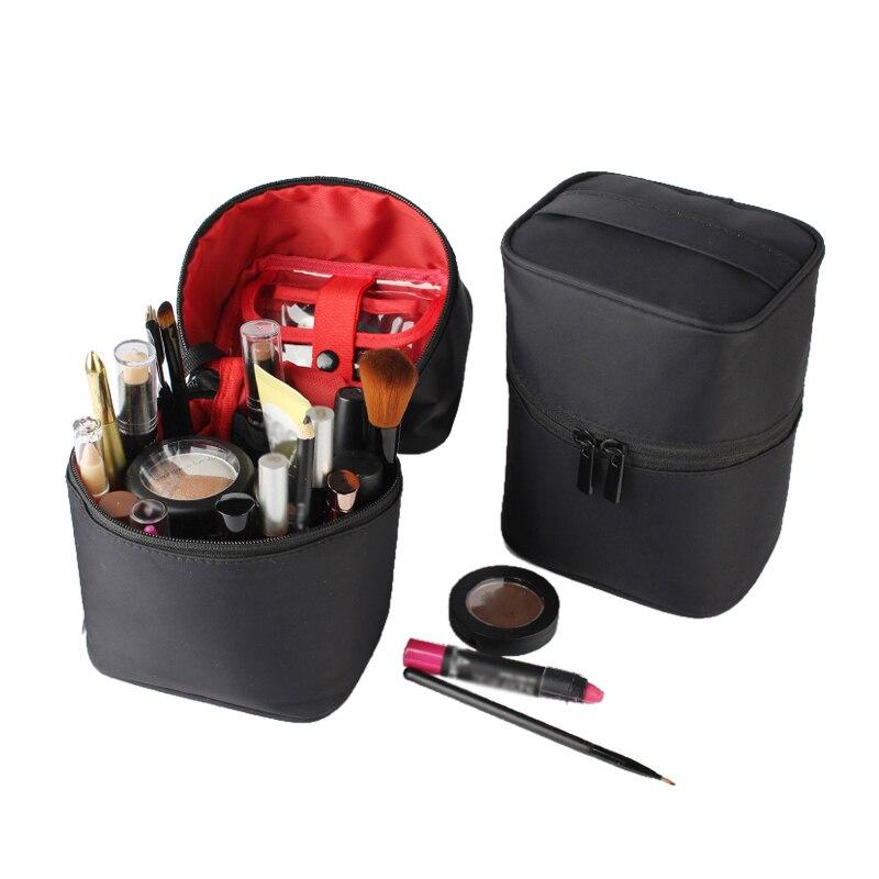 Mihawk cosméticos saco portátil vaidade casos esteticista bolsa de higiene pessoal feminino batom maquiagem escova organizador zip tote acessórios