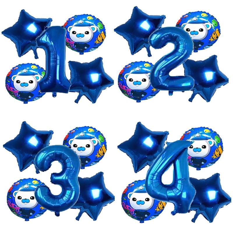 «Октонавты» тема вечерние украшения шара с цифрой комплект для детей с днем рождения вечерние поставки фигурка из аниме «Astroboy (надувные шар...