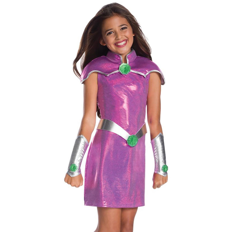 2020 New Costume Teen Titan- Starfire Cosplay For Kids TuTu Dress  Halloween Costume (3-9Years)  Party Dress