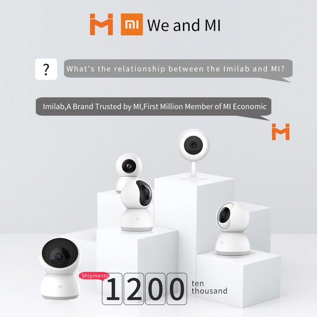 Imilab Smart Camera Webcam 2K 1296P 1080P HD WiFi Night Vision 360 Angle Video IP Cam Baby Security Monitor for Mi home APP 1