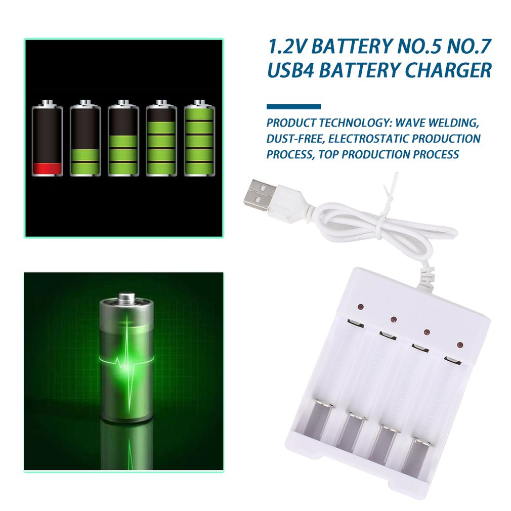 <font><b>Battery</b></font> <font><b>Charger</b></font> For <font><b>AA</b></font> <font><b>AAA</b></font> <font><b>Batteries</b></font> 4 Ports <font><b>Battery</b></font> <font><b>Charger</b></font> With USB Plug Universal Power Tool Accessories image