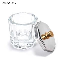KADS Acrylic Nail Glass Cup Clear Crystal Bowl Acrylic Powder Liquid Holder Dappen Dish Octagon Glass Bowl Cup Nail Art Tools