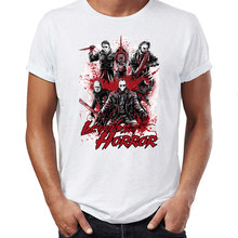 T-shirt homme légendes de l'horreur Michael Myers Halloween Freddy Krueger Jason vendredi la 13th oeuvre dessin imprimé t-shirt(China)