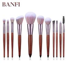 Make Up Brushes 11pcs/set Foundation Concealer Eyeshadow Lip Blush Makeup Brushes Cosmetic Makeup Tool empty magnetic tz large palette makeup black eyeshadow concealer blush make up maquiagem professional cosmetic makeup storage