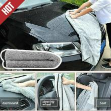 Premium Plush Microfiber Towel Professional Car Care Cleaning Hemming Coral Velvet Cloth Double Sided New Wiping Absorbent