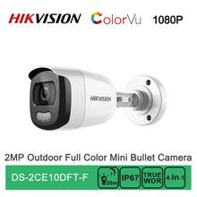 DS-2CE10DFT-F Hikvision Turbo HD 1080P 2MP ColorVu IR Bullet Camera TVI/AHD/CVI/CVBS 4 In 1 IP67 OSD Waterproof Full Time Color(China)
