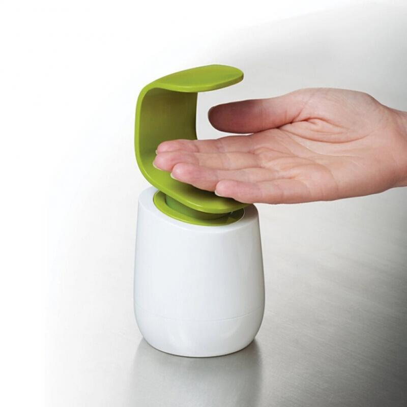 Creative C Shape Liquid Soap Dispenser Single Hand Back Pressure Liquid Dispenser Refillable Hand Washing Liquid Bottle