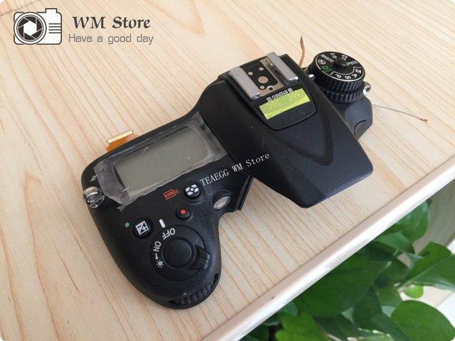 יד שנייה עבור ניקון D7200 למעלה כיסוי מקרה פגז עם פלאש לוח למעלה LCD תריס שחרור מצב חיוג כפתור מצלמה תיקון חלק