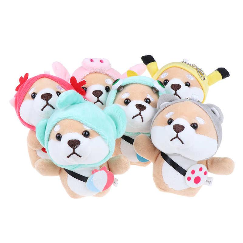 1Pc 12cm Shiba Inu Dog Plush Toy Stuffed Soft Animal Corgi Chai Keychain .H2