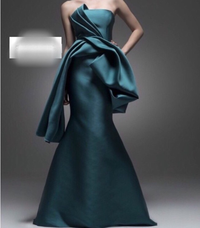 2018 Elegant Custome A-line Floor-length Strapless Vestidos Formal Evening Gowns Women Elegant Mother Of The Bride Dresses