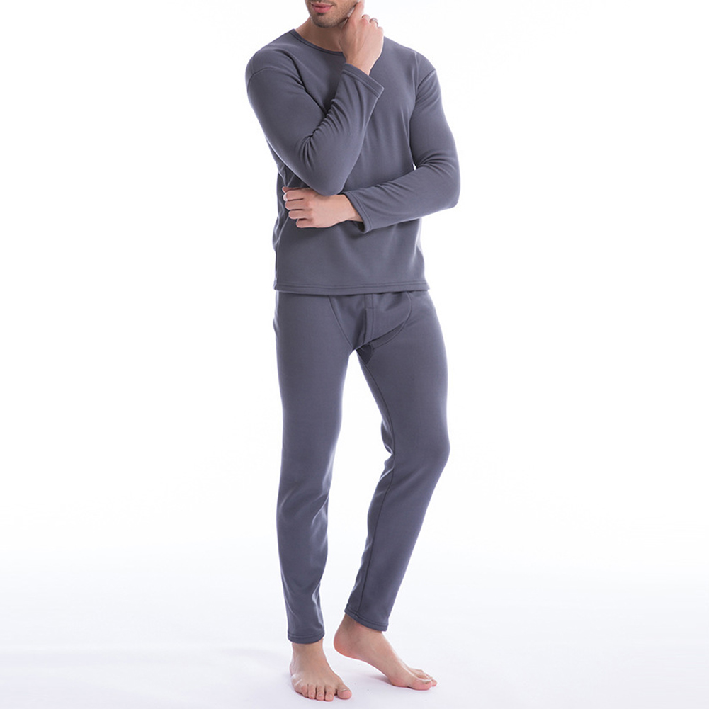 Men Ultra Soft Thermals Underwear Long Johns Set With Thick Plush Lined JL
