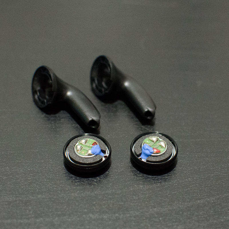 15.4mm 32 Ohm Bass Headphone Driver Speakers N52 Strong Magnetic Drivers For MX500 With Headphone Shell