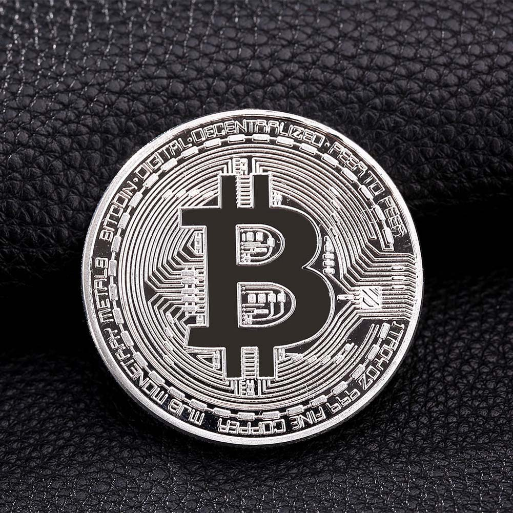 1pc 38mm Collection Coin Bitcoin Gold Plated Bronze Physical Bitcoins Casascius Bit Coin BTC New Year Gift Non-currency Coins-5