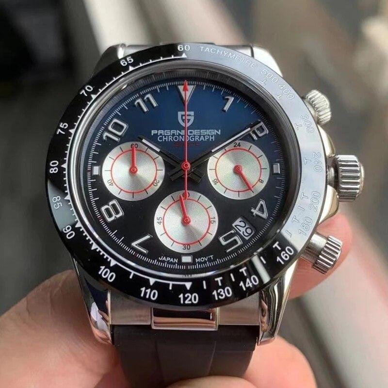 2021 Новый PAGANI DESIGN часы Для мужчин лучший бренд Автоматическая Дата наручные часы Силикагель Водонепроницаемый 100M High-end Хронограф часы подаро...