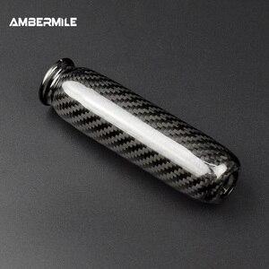 Image 3 - Ambermiles أغطية مقابض فرامل اليد الداخلية للسيارة ، ألياف الكربون لميني كوبر ، R55 ، Clubman R56 ، R57 ، R58 ، R59 ، R50 ، R53 ، الملحقات