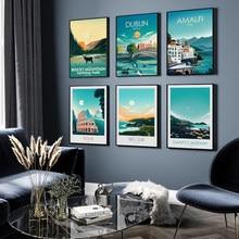 Affiche d'art imprimée de la californie, toile, Rocky Mountain, peinture Vintage, affiches de voyage, villes, paysage, tableau d'art mural