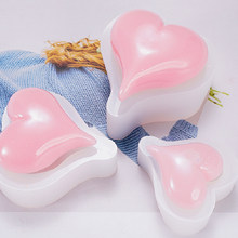 3D DIY Heart Silicone Mould Love Heart Silicone Mold For Car Decoration Candle Resin Molds(China)