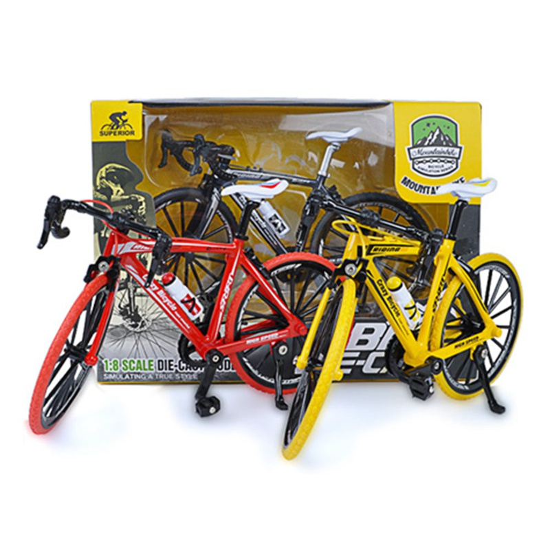 1:8 Simulation Bicycle Bend Road Mini Racing Toys Crazy Magic Finger Bike Alloy Bicycle Model Adult Collection Gifts