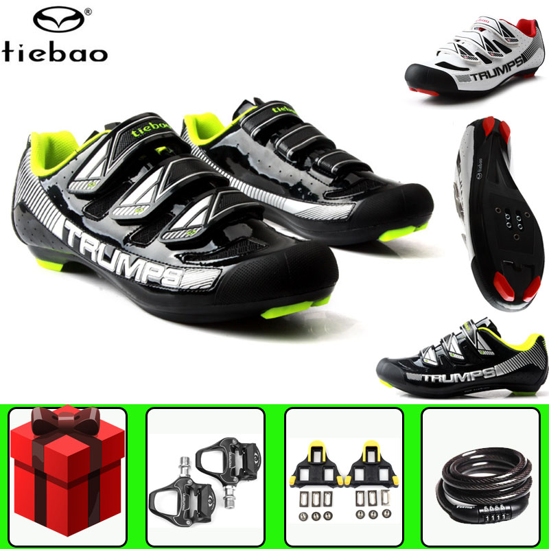 Tiebao pro road cycling shoes sapatilha ciclismo men sneakers women bicicletas pedals self-locking breathable cycling bike shoes