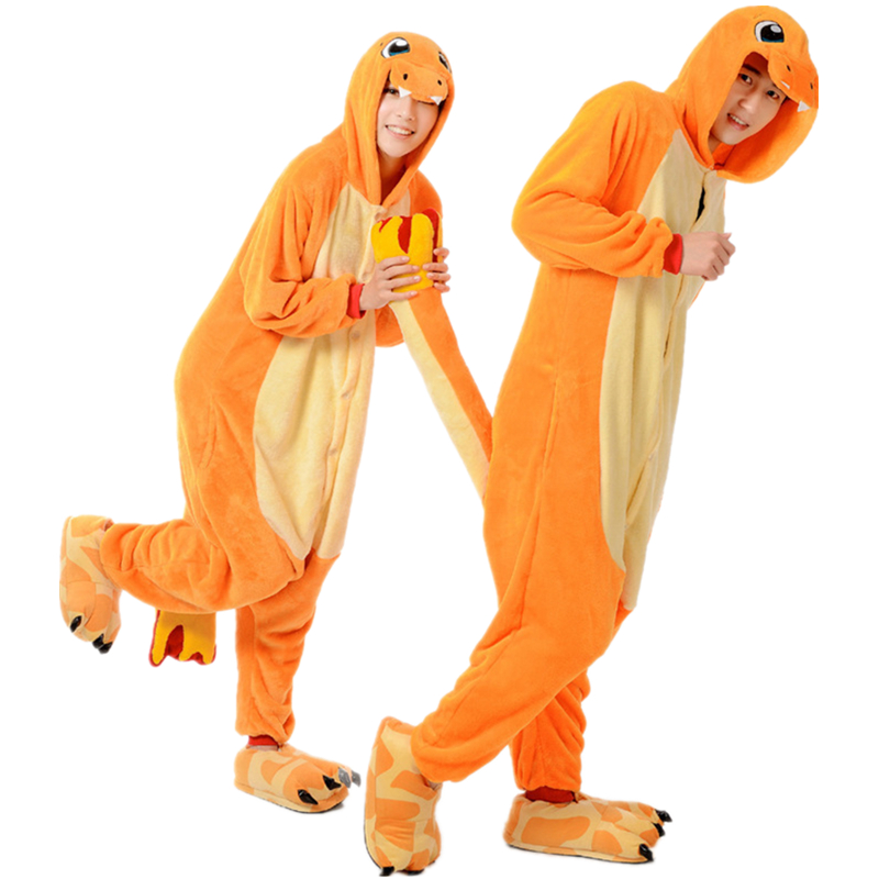 Pokemon Charmander Kigurumi Animal Sleepwear Cosplay Costume Pajamas Jumpsuit Onesies