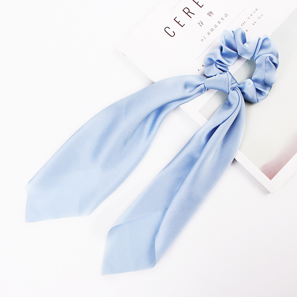 H6657393d0d4c4317baa570cbc902e826n - Fashion Silk Satin Summer Ponytail Scarf Stripe Flower Print Ribbon Hairbands Hair Scrunchies Vintage Girls Hair Accessoires