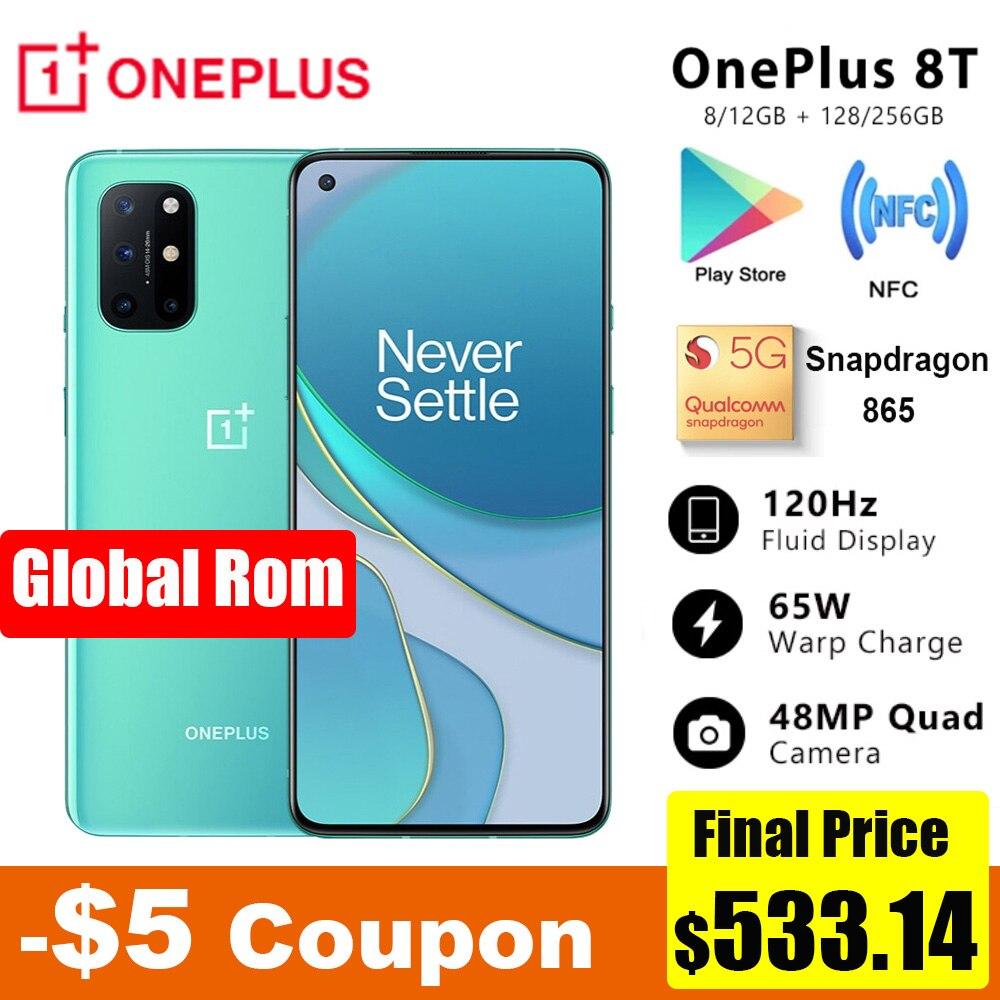 Oneplus Original 8 T 8 T 5G SmartPhone 120Hz líquido AMOLED pantalla Snapdragon 865 65W Warp a uno de 8 T teléfono móvil|Teléfonos móviles| - AliExpress