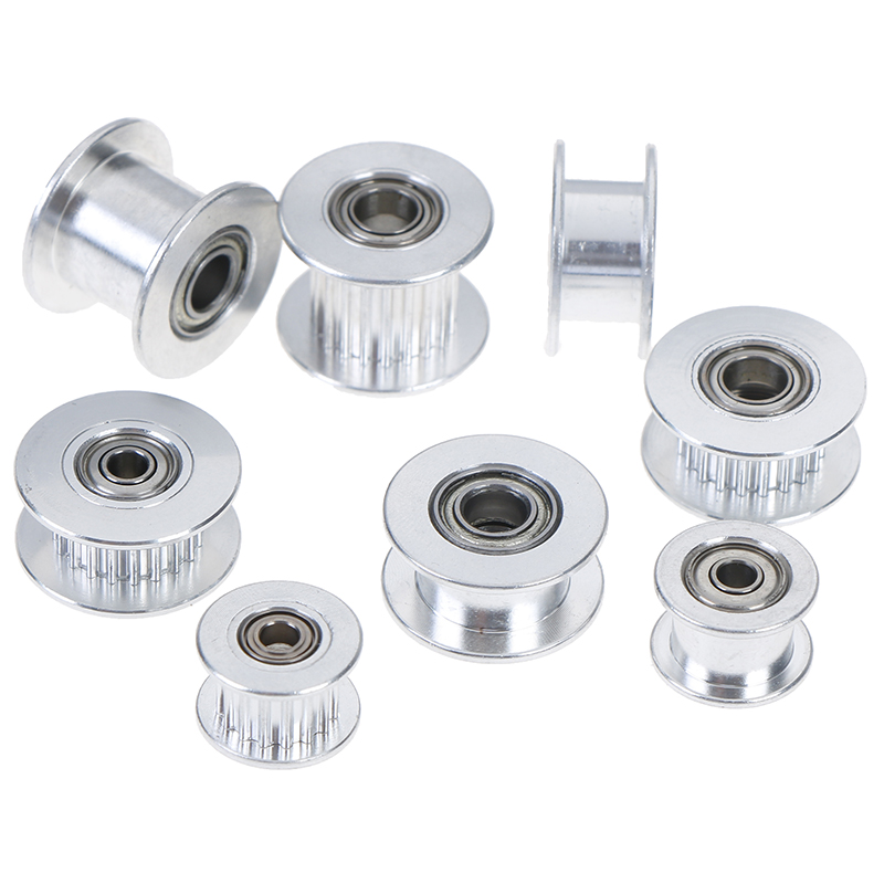 2GT 16Teeth Or 20 Teeth Synchronous Wheel Idler Pulley Bore 3mm Or 5mm With Bearing For GT2 Timing Belt Pitch 2mm High Quality|Pulleys|   - AliExpress