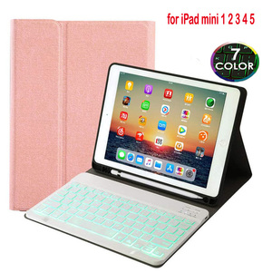 For ipad mini 1 2 3 Backlit Wireless Bluetooth Keyboard Case For Apple iPad Mini 4 5 Cover