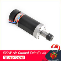 500W CNC Spindle Motor 12000 RPM DC Brushless Spindle ER16 Motor For Milling Machine Tools