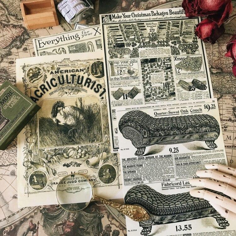 12 Teile/satz A5 Vintage Schwarz Gelb Zeitung Aufkleber DIY Handwerk Scrapbooking Album Junk Journal Glücklich Planer Dekorative Aufkleber