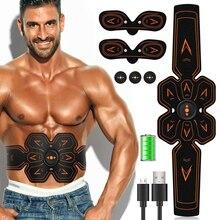 цена на Abdominal Muscle Stimulator Electrostimulation Electric ABS EMS Trainer Vibrating Slimming Belt Fitness Massager Gym Equipment