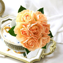 Artificial Flower Gardenia Bride Holding Bouquet Of Flowers Wedding Photography Props Decorative Fake