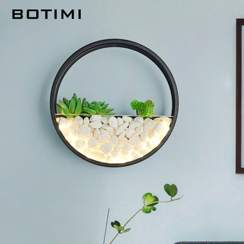 BOTIMI  Modern 220V LED Wall Lamp For Living Room Decor Metal Wall Sconce White Bedside Lamps Round Wall Mounted Rooms Lights fashion rustic wall lamps vintage wrought iron wall lamp indoor lighting corridor wall mounted lights bedside sconce living room