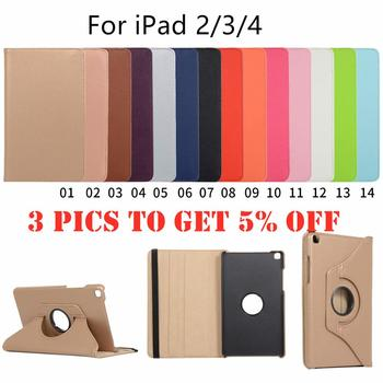 360 Degrees Rotating PU Leather Flip Cover Case for iPad 2 3 4 Case Stand Cases Smart Tablet A1395 A1396 A1416 A1430 A1458 A1460 netcosy for ipad 2 a1376 a1395 a1397 a1396 tablet lcd display screen perfect replacement parts digital accessory for ipad 2