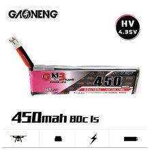 Gnb 1s 3.8v 450mah 80c max 160c hv 4.35v lipo bateria para fpv racing drone m80s tiny7 beta75s emax tinyhawk snapper7 peças de reposição